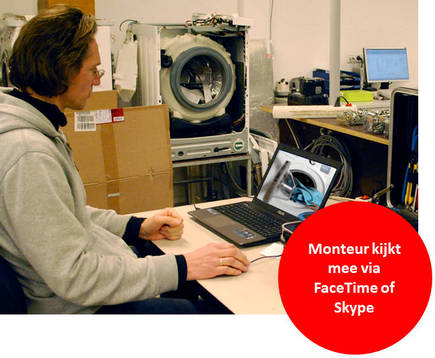 Witgoed reparatie monteur stelt diagnose via skype of for Monteur de stand